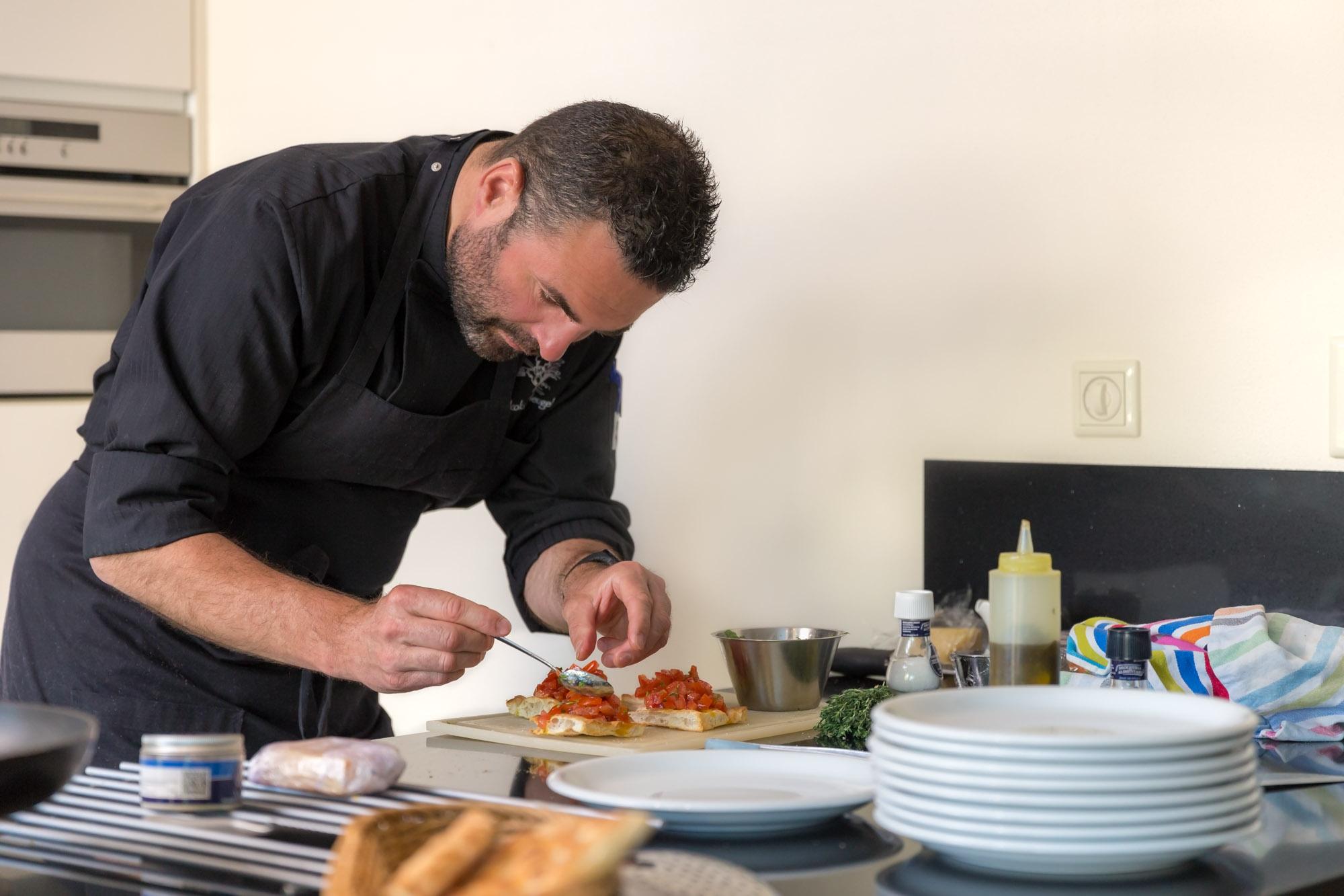 portret van Italiaanse kok aan huis door mayrafotografie voor branding