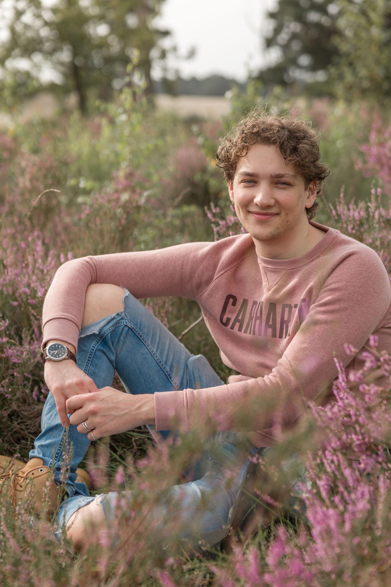 Portretfotograaf in Amersfoort, Nijkerk, Hoevelaken. Heide portret. Portretfotografie door Mayra Fotografie